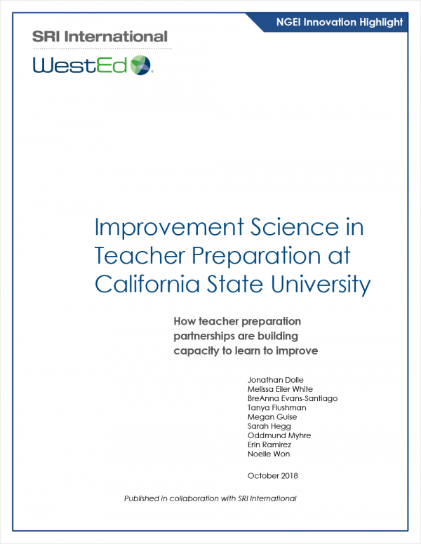 Improvement Science in Teacher Preparation at California State University