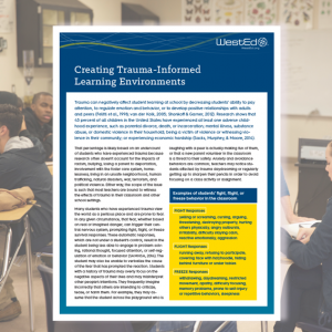 Trauma informed learning environments