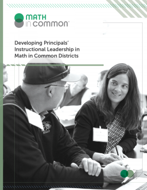 Developing Principals' Instructional Leadership in Math in Common Districts