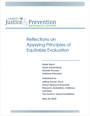 Reflections on Applying Principles of Equitable Evaluation