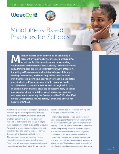 CDE Mindfulness-Based Practices for Schools