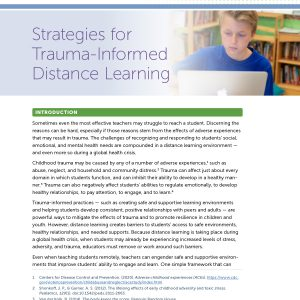Strategies for Trauma-Informed Distance Learning