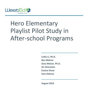 Hero Elementary Playlist Pilot Study