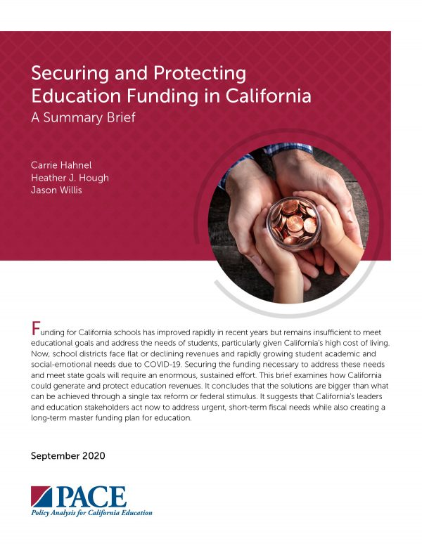 PACE Securing and Protecting Education Funding in CA