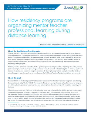 CA Teacher Residency