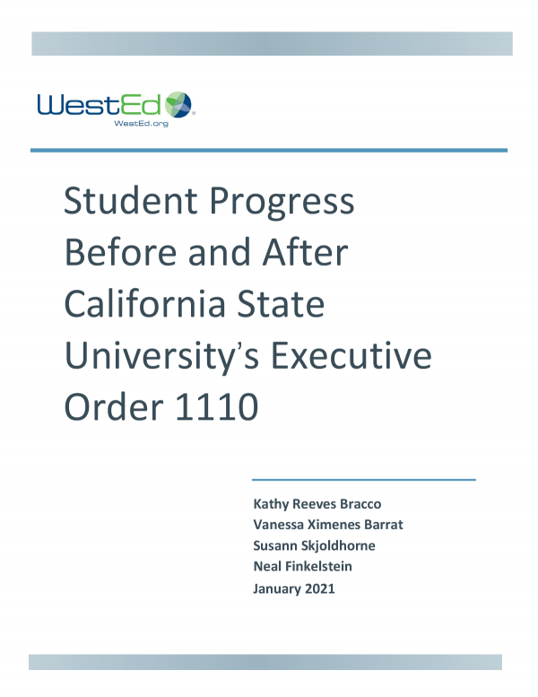 Student Progress Before and After California State University's Executive Order 1110