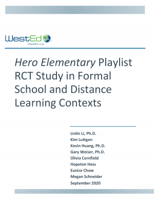 Hero Elementary Playlist RCT Study in Formal School and Distance Learning Contexts