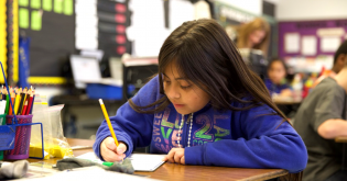 Elementary Student at desk