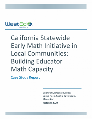 Cover of California Early Math Initiative In Local Communities