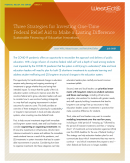 Three Strategies for Investing One-Time Federal Relief Aid to Make a Lasting Difference Sustainable Financing of Education Innovations