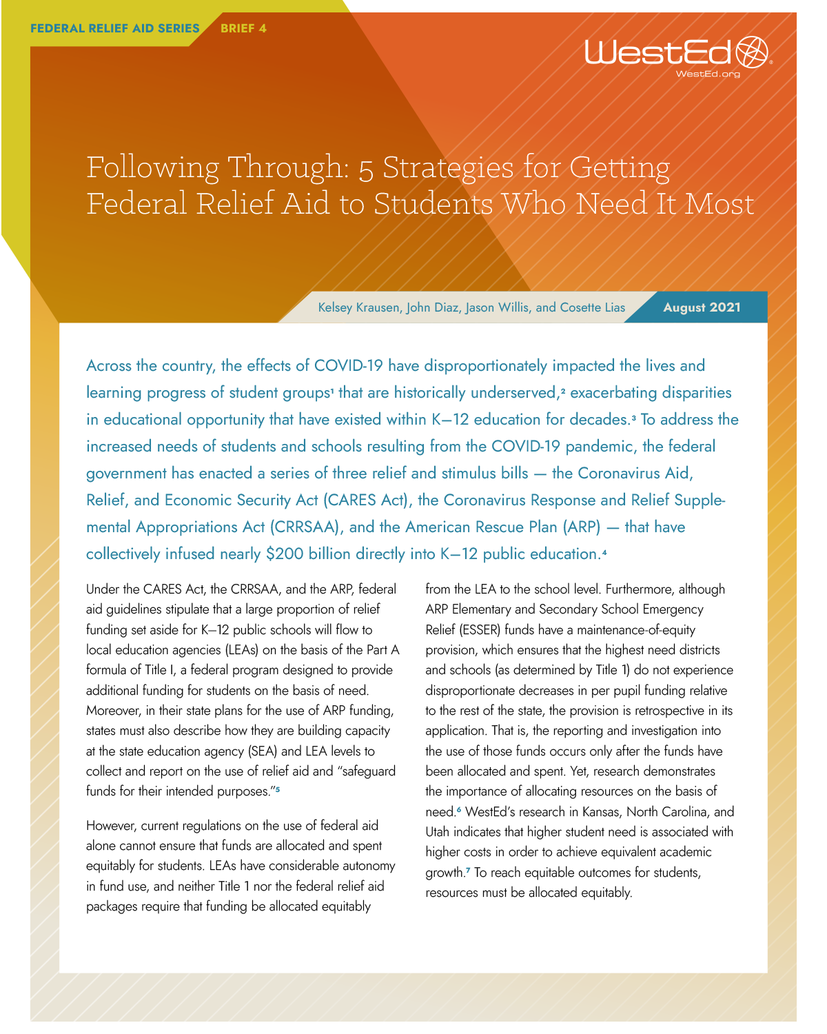 Following Through: 5 Strategies for Getting Federal Relief Aid to Students Who Need It Most