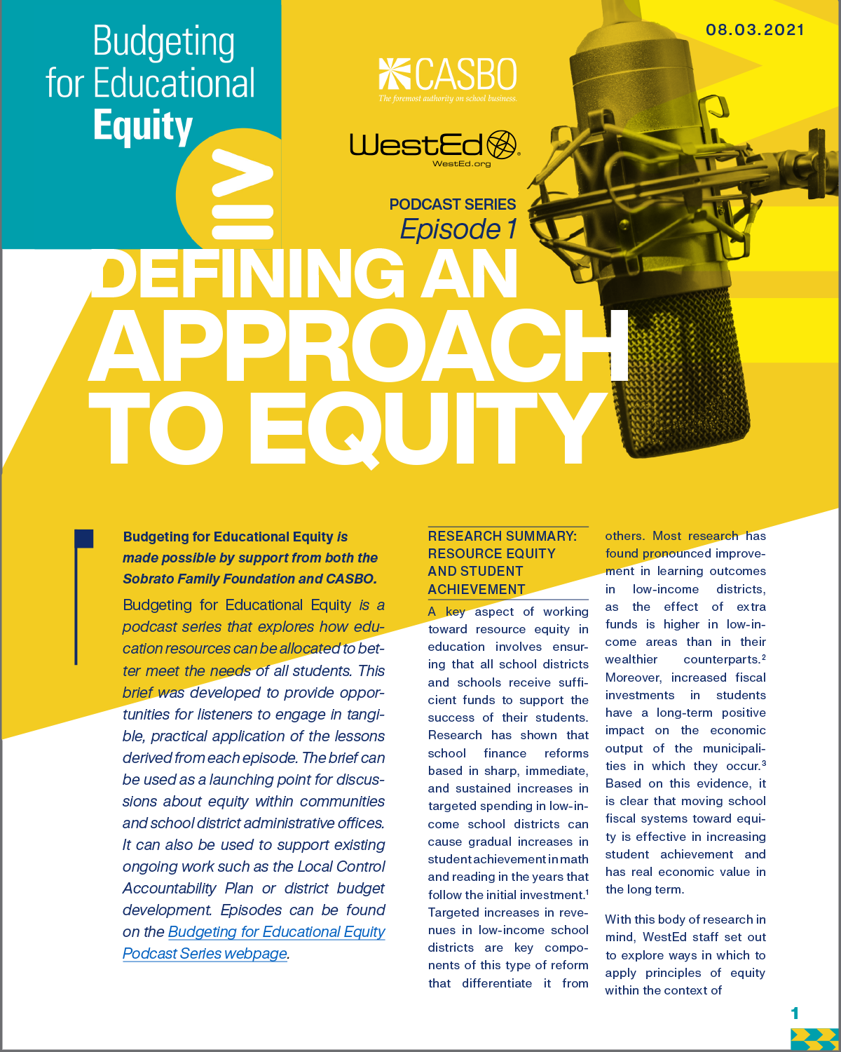 Podcast Series, Episode 1: Defining an approach to equity