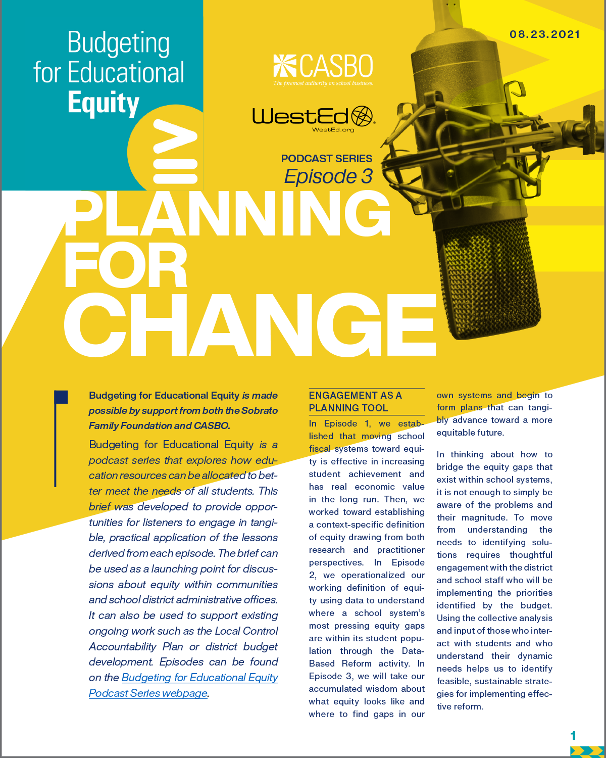 Podcast Series, Episode 3: Planning for Change