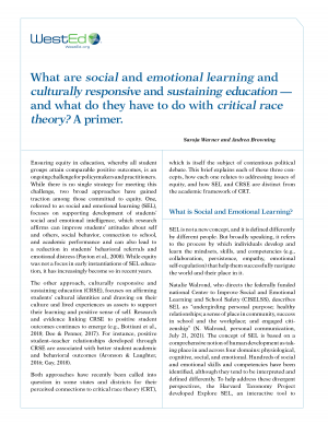 What are social and emotional learning and culturally responsive and sustaining education -- and what do they have to do with critical race theory? A primer.