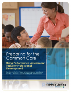 Cover image for Preparing for the Common Core: Using performance assessment tasks for professional development