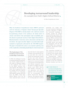 Cover image for Developing turnaround leadership