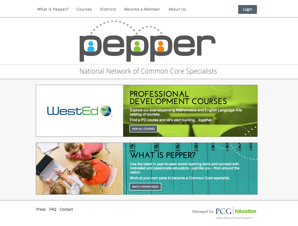 screenshot of https://www.PepperPD.com