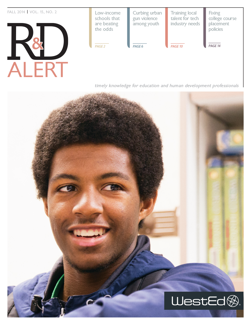 Cover image of the R&D Alert Newsleter 15.2 Fall 2014