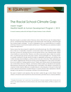 Cover image for The Racial School Climate Gap