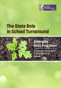 Cover image for The State Role in School Turnaround