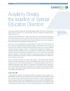 Cover image for article: Academy Breaks the Isolation of Special Education Directors
