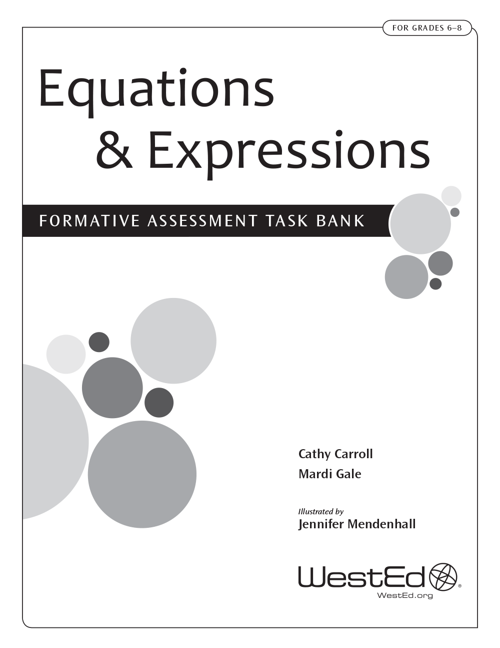 Cover image for Equations & Expressions: Formative Assessment Task Bank for Grades 6-8