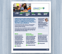 Cover of WestEd 2015 Agency Infosheet