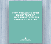 News: cover image for From College to Jobs: Making Sense of Labor Market Returns to Higher Education