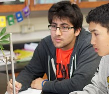Photo of high school students in science laboratory