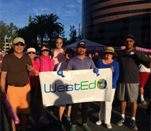 Photo of WestEd employees participating in Making Strides event
