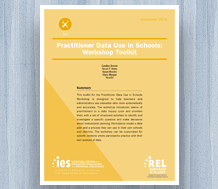 News: Cover image for Cover image for Practitioner Data Use in Schools Practitioner Data Use in Schools: Workshop Toolkit