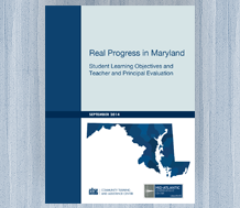 News image: cover for Real Progress in Maryland—Student Learning Objectives and Teacher and Principal Evaluation