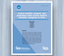 News: cover image for School Mobility, Dropout, and Graduation Rates Across Student Disability Categories in Utah