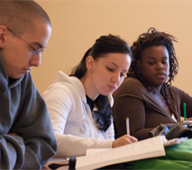 Photo of students studying
