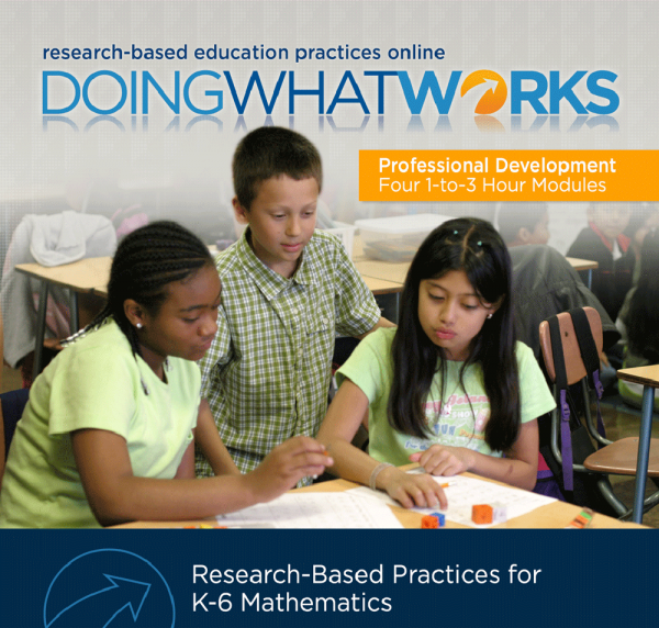 Cover image for Doing What Works: Research-Based Practices for K-6 Mathematics