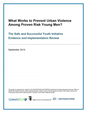 Cover image for What Works to Prevent Urban Violence Among Proven Risk Young Men?