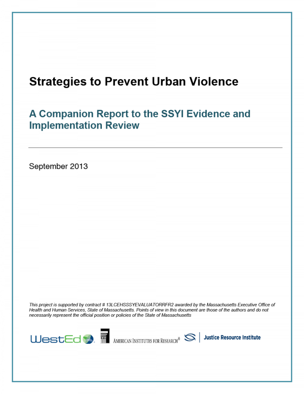 Cover image for Strategies to Prevent Urban Violence