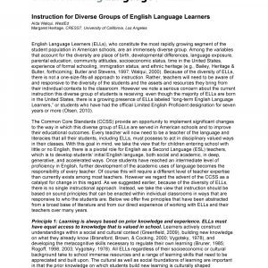 Cover image of Instruction for Diverse Groups of English Language Learners
