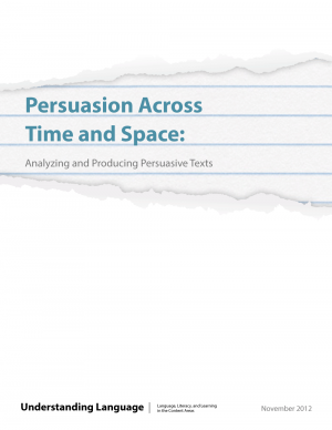 Cover image of Persuasion Across Time and Space: Analyzing and Producing Complex Texts