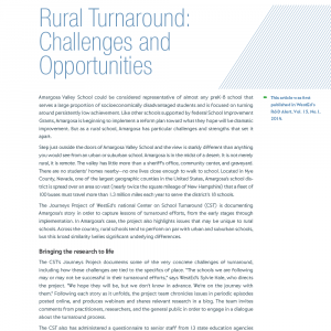 Cover image of Article: Rural Turnaround: Challenges and Opportunities RD-14-01