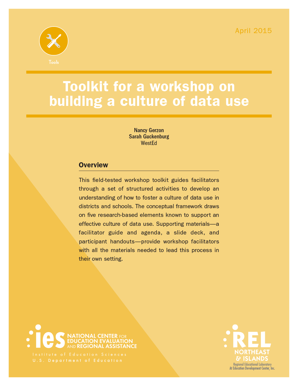 Cover image for Toolkit for a Workshop on Building a Culture of Data Use