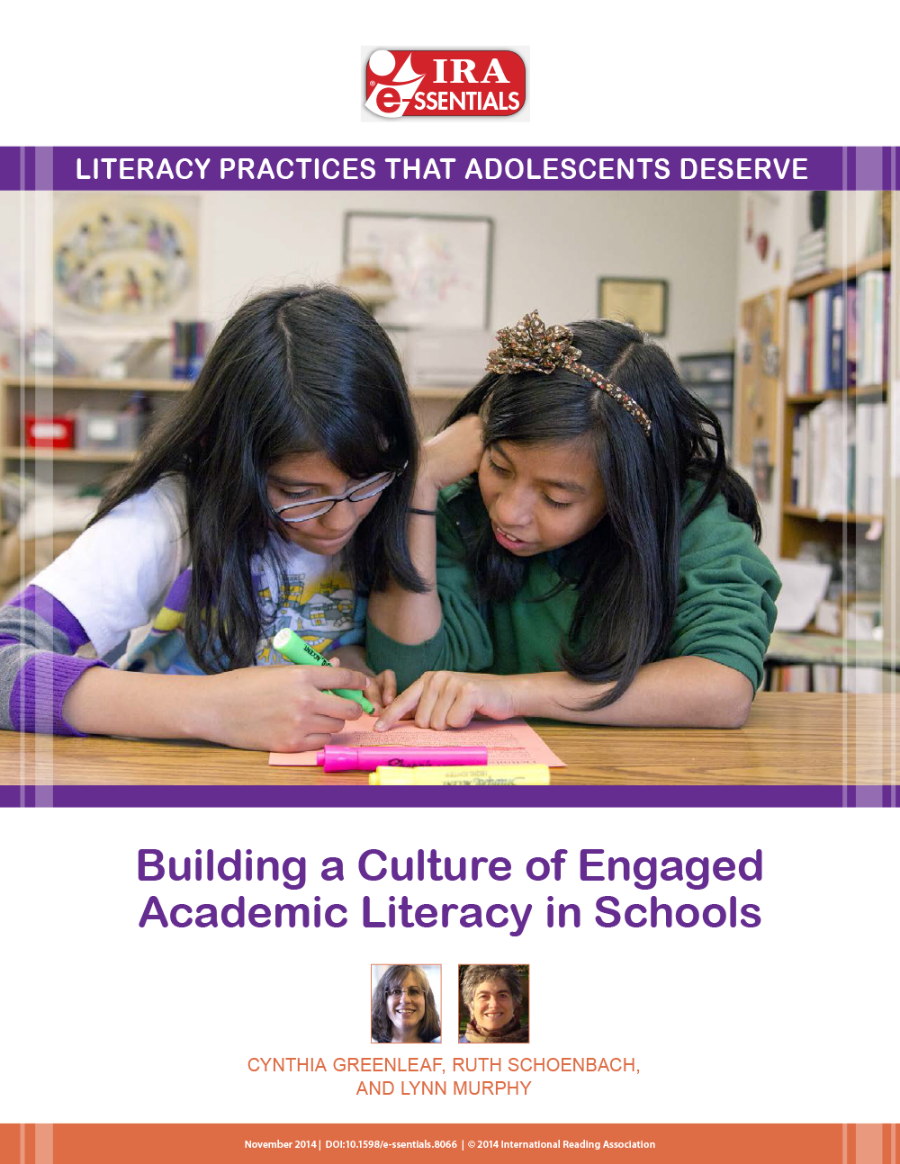 Cover image for Building a Culture of Engaged Academic Literacy in Schools