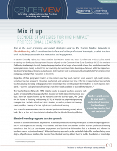 Cover Mix It Up: Blended Strategies for High-Impact Professional Learning