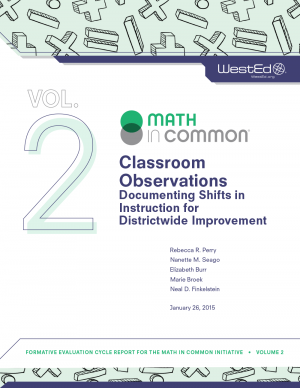 Cover image of Classroom Observations Documenting Shifts in Instruction for Districtwide Improvement