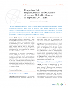 Cover image for Evaluation Brief: Implementation and Outcomes of Kansas Multi-Tier System of Supports: 2011–2014