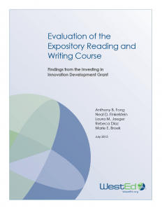 Cover for Evaluation of the Expository Reading and Writing Course: Findings from the Investing in Innovation Development Grant