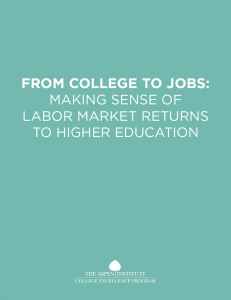 Cover image for From College to Jobs: Making Sense of Labor Marketing Returns to Higher Education