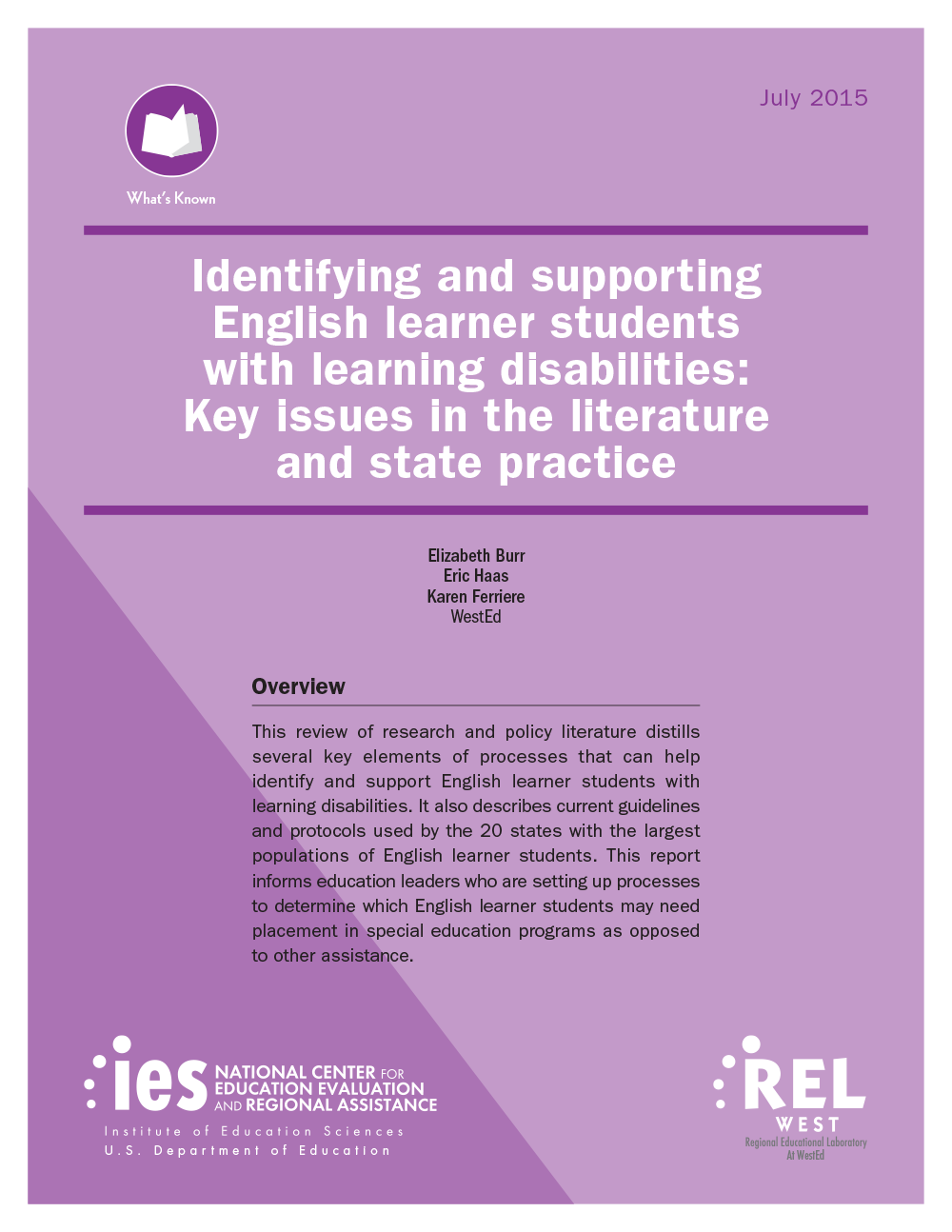 The State Of Learning Disabilities >> Identifying And Supporting English Learner Students With Learning