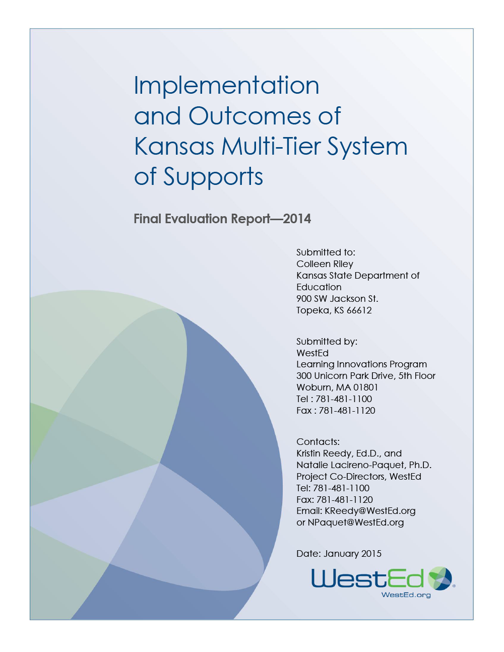 Cover image of Implementation and Outcomes of Kansas Multi-Tier System of Supports: Final Evaluation Report 2014