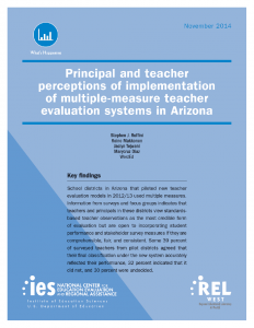 Cover image for Principal and Teacher Perceptions of Implementation of Multiple-Measure Teacher Evaluation Systems in Arizona